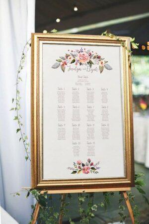 план рассадки гостей на свадьбу в Минске